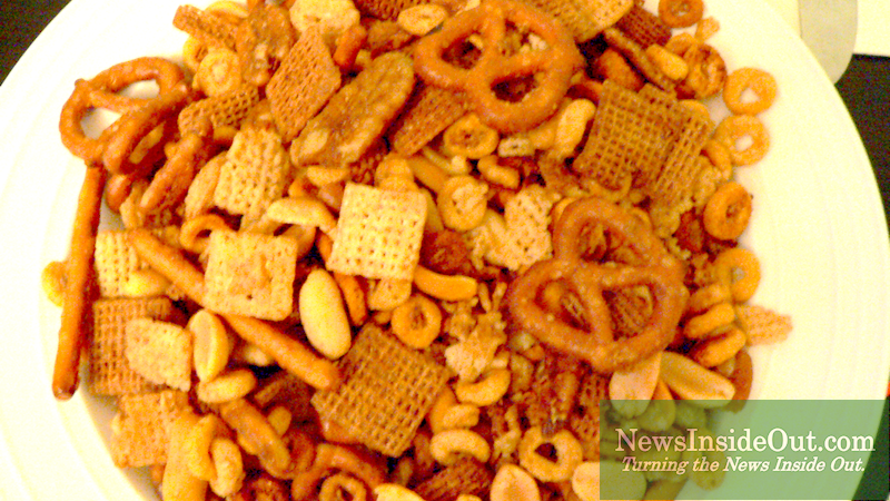 """Nuts and Bolts"" meets ""Chex Holiday Mix"""