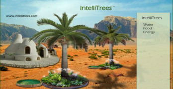 "Intellitrees: A ""smart tree"", terra-forming, biomimicry, ecotechnology for safe energy, safe AI, and human sovereignty"