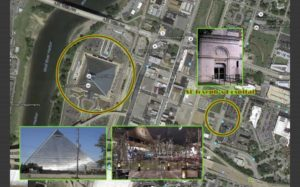 Freemansonry-pyramid-facing-St-Joseph-hospital-Dr. King-death-site