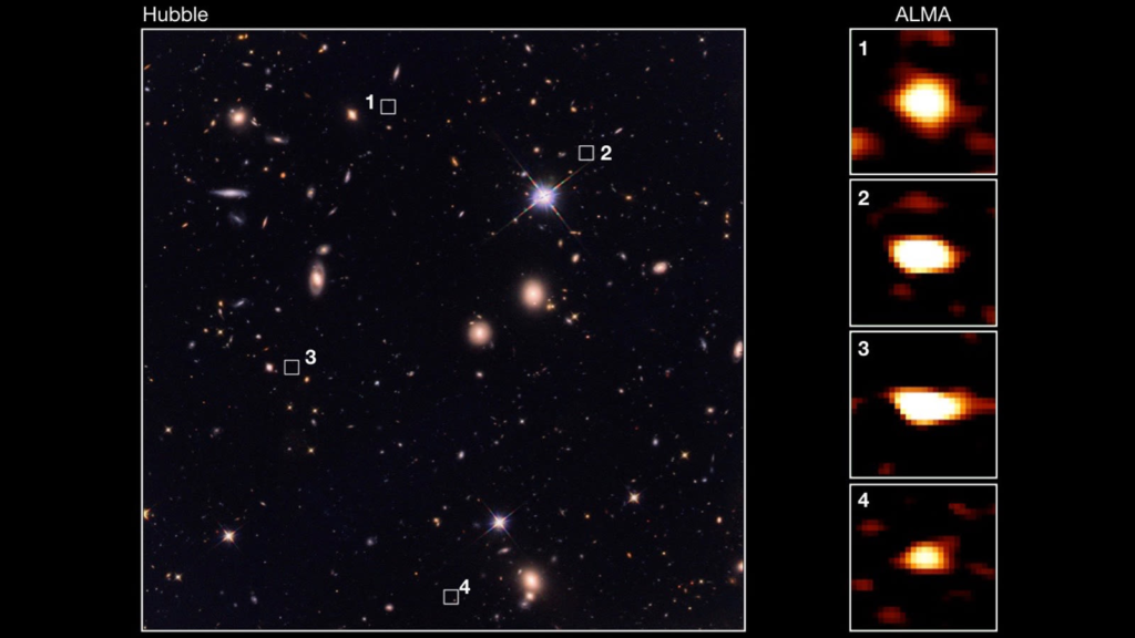 Invisible Galaxies Imaged by ALMA Observatory